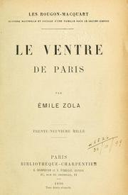 Cover of: Le ventre de Paris