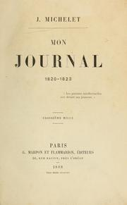 Mon journal, 1820-1823 by Michelet, Jules