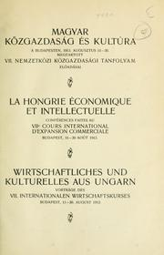 Cover of: Magyar közgazdaság és kultúra | International society for the development of commercial education
