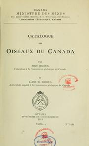 Cover of: Catalogue des oiseaux du Canada by John Macoun