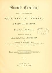 Animate creation by J. G. Wood