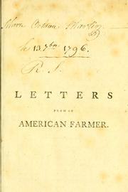 Cover of: Letters from an American farmer