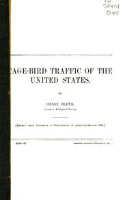 Cover of: Cage-bird traffic of the United States | Henry Oldys