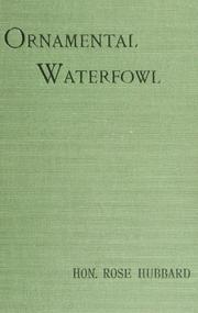 Cover of: Ornamental waterfowl | Rose E. Hubbard