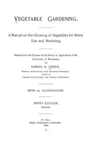 Cover of: Vegetable gardening | Green, Samuel B.