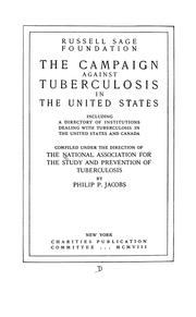 Cover of: The campaign against tuberculosis in the United States | Philip Peter Jacobs