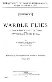 Cover of: Warble flies | Seymour Hadwen