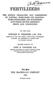 Cover of: Fertilizers | Edward Burnett Voorhees