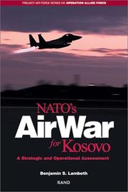 Cover of: NATO's air war for Kosovo