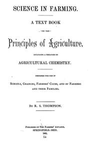 Cover of: Science in farming | Ralph Seymour Thompson