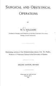 Cover of: Surgical and obstetrical operations | Walter Long Williams