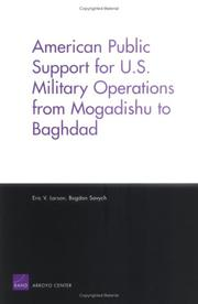 Cover of: American support for U.S. military operations from Mogadishu to Baghdad