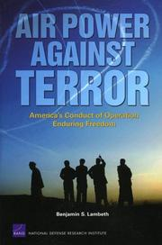 Cover of: Air power against terrorism