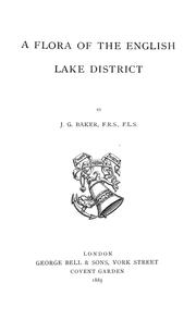 Cover of: A flora of the English Lake District | John Gilbert Baker