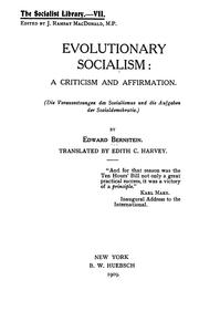 eduard bernstein evolutionary socialism pdf