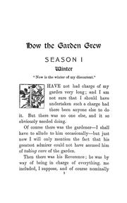 Cover of: How the garden grew | Maud Maryon