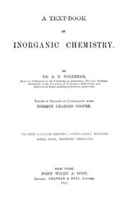 Cover of: A text-book of inorganic chemistry | A. F. Holleman
