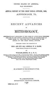 Cover of: Recent advances in meteorology