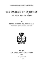 Cover of: The doctrine of evolution | Henry Edward Crampton