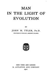 Cover of: Man in the light of evolution