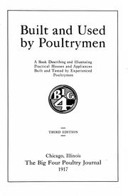 Cover of: Built and used by poultrymen |