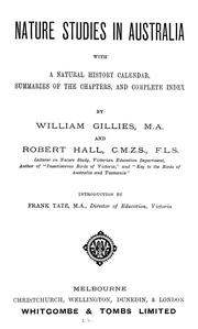 Cover of: Nature studies in Australia | William Gillies