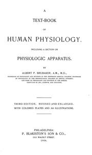 Cover of: A text-book of human physiology | Brubaker, Albert Philson