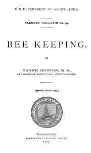 Cover of: Bee keeping | Frank Benton