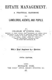 Cover of: Estate management | Charles Edward Curtis