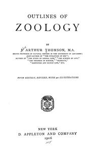 Cover of: Outlines of zoology | J. Arthur Thomson