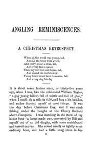 Cover of: Angling reminiscences | Francis, Francis