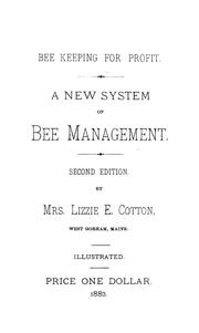 Cover of: Bee keeping for profit | Lizzie E. Cotton