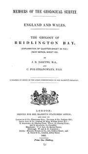 Cover of: The geology of Bridlington Bay by John Roche Dakyns