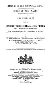 Cover of: The geology of parts of Cambridgeshire and of Suffolk (Ely, Mildenhall, Thetford) | Whitaker, William