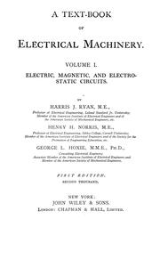 Cover of: A text-book of electrical machinery