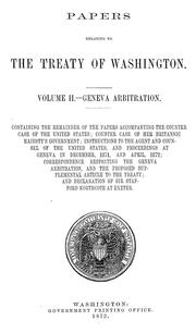 Cover of: Papers relating to the treaty of Washington ... | United States. Department of State.