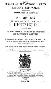 Cover of: The geology of the country around Lichfield | George Barrow