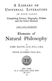 Cover of: Elements of natural philosophy