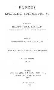 Cover of: Papers, literary, scientific, &c., by the late Fleeming Jenkin ...