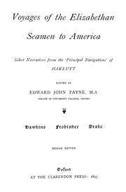 Cover of: Voyages of the Elizabethan seamen to America