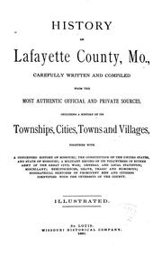 Cover of: History of Lafayette County, Mo | Missouri Historical Company