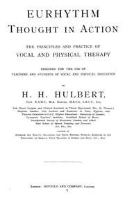Cover of: Eurhythm, thought in action | Henry Harper Hulbert