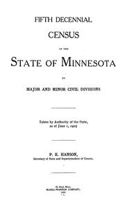 Fifth decennial census of the state of Minnesota by major and minor civil division