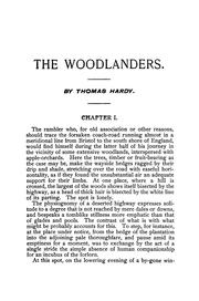 Cover of: The woodlanders | Thomas Hardy