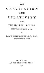 Cover of: On gravitation and relativity | R. A. Sampson