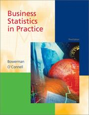 Cover of: Business statistics in practice