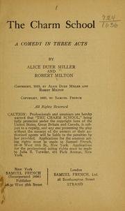 Cover of: The charm school | Alice Duer Miller