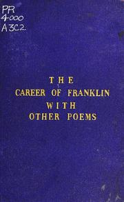 Cover of: The career of Franklin, an ode | Chandos Hoskyns Abrahall