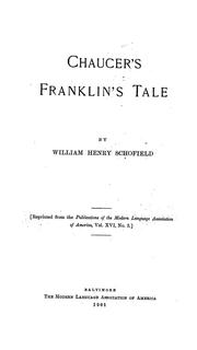 Cover of: Chaucer's Franklin's tale