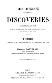 Cover of: Discoveries | Ben Jonson